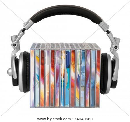 Headphones and cds