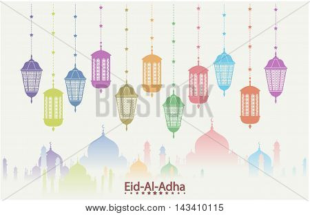 Eid al adha greeting card or background.