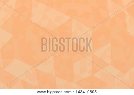 Abstract random light orange triangular background illustration.