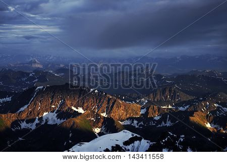 Alpine landscape in Altai Mountains, Russian Federation