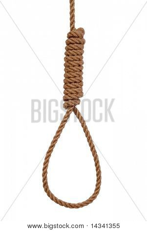 Noose isolated on white