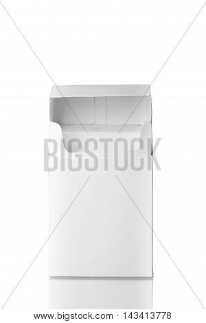 Open Cigarettes Pack Without Cigarettes Isolated On White Backgr