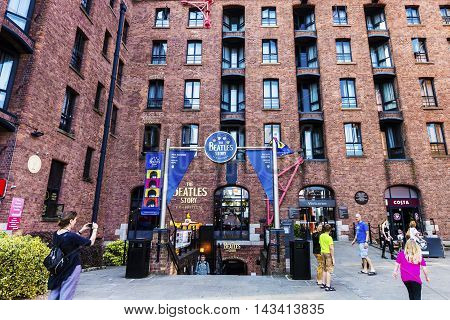 LIVERPOOL, UK - AUGUST 18: The Beatles Story is a visitor attraction dedicated to the 1960s rock group The Beatles. August 18, 2016 in Liverpool.