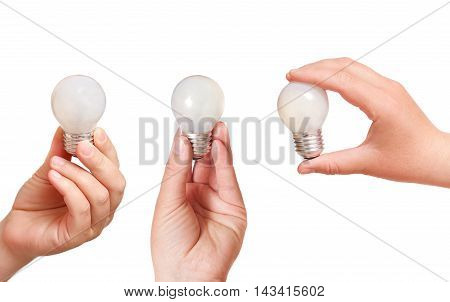 Energy Consumption And Energy Saving Topic: Human Hand Holding