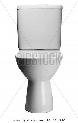 White Toilet Bowl Isolated On A White Background