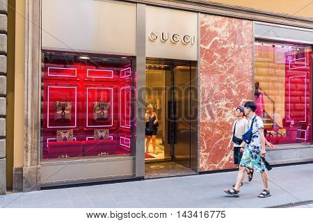Gucci Shop In The City Center Of Florence
