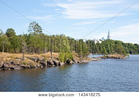 Channel to the island of Valaam where the Valaam Transfiguration Monastery