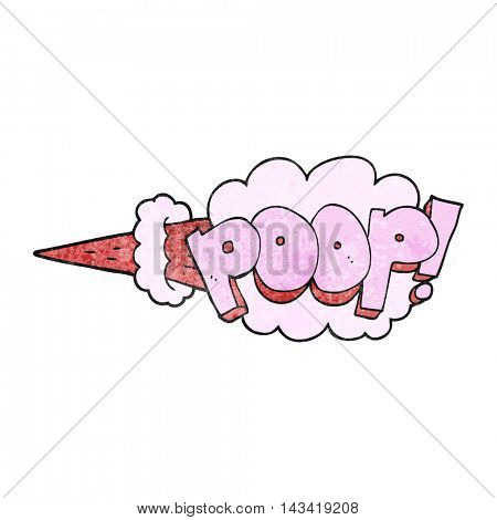 freehand textured cartoon poop explosion