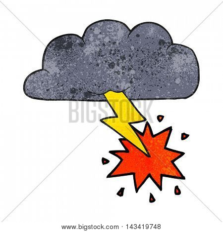 freehand textured cartoon thundercloud