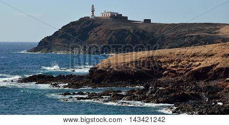 Coast of Arinaga and lighthouse, Gran canaria, Canary islands
