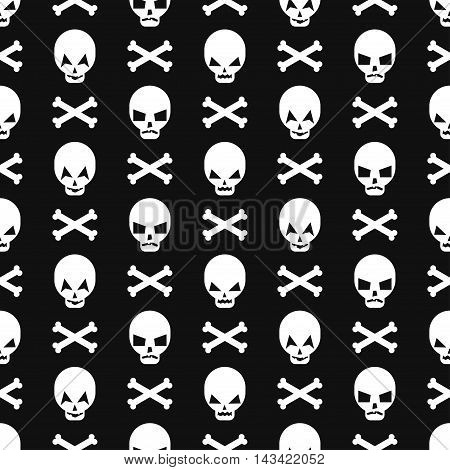 Halloween pattern with skulls. Seamless halloween background. Happy Halloween concept illustration.