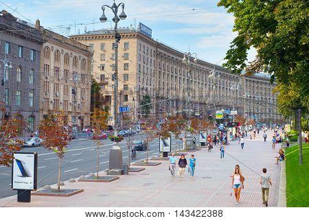 Kiev City Center Street. Ukraine