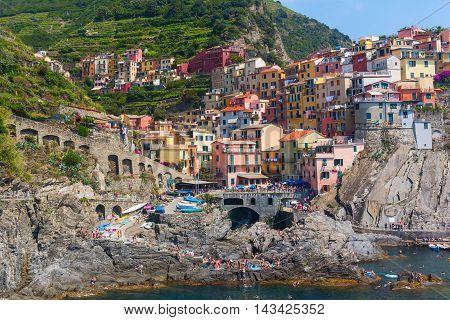 Manarola In The Cinque Terre, Italy