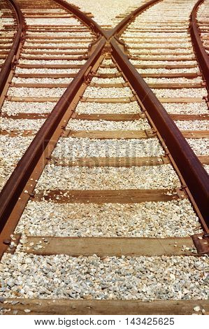 Vintage railway track travel and transportation background