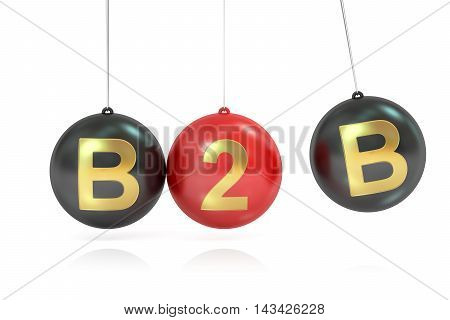 B2B concept 3D rendering isolated on white background