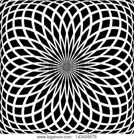 Abstract rotation pattern. Vector art.