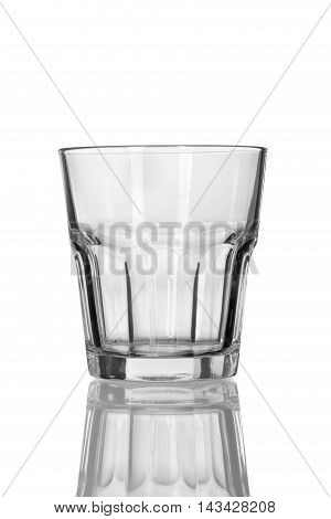 Glass For Whiskey On White Background