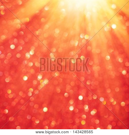 Christmas bokeh background with lights blurry burst