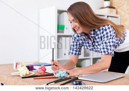 Art Class Student Portrait