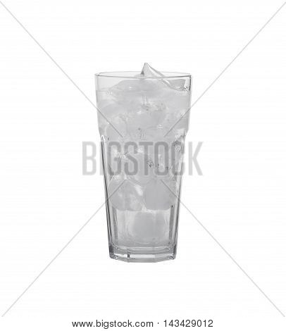 Glass With Ice On A White Background