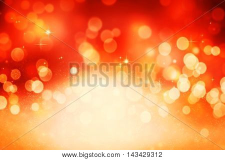 Christmas holiday red bokeh background with blur lights