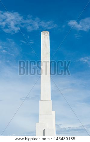 White Marble Obelisk Masculine Concept