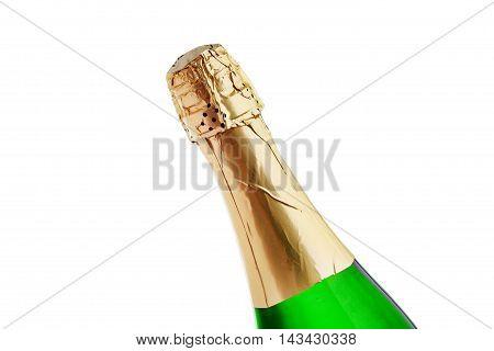 Champagne Bottle Isolated On White Background