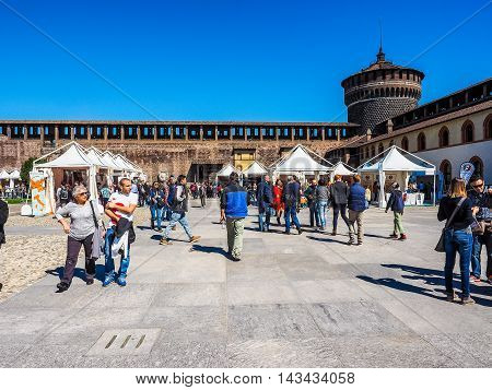 Sforza Castle In Milan (hdr)