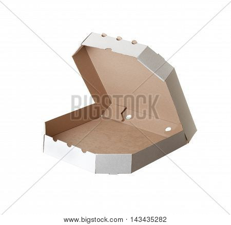Carton Box For Pizza On White Background