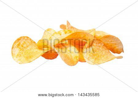 Tasty Potato Chips Close-up