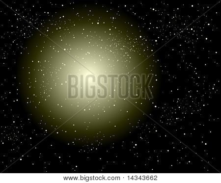 Editable vector background design of a supernova