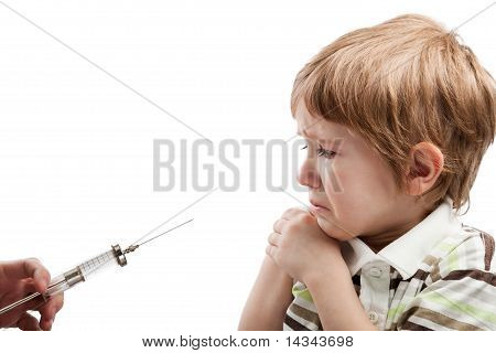 Syringe Injecting Child
