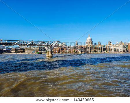 Millennium Bridge In London (hdr)