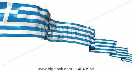 Greece ribbon flag