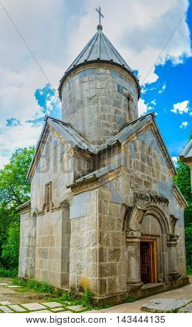 The St Stepanos Church is the smallest one in Haghartsin Monastery Armenia.