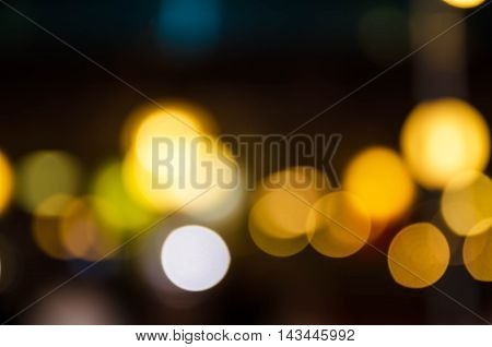 Abstract bokeh background of Christmas light .