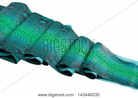 Python snakeskin leather, snake skin, texture, animal, reptile