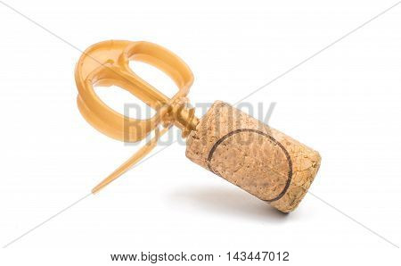 Wine cork isolated on a white background