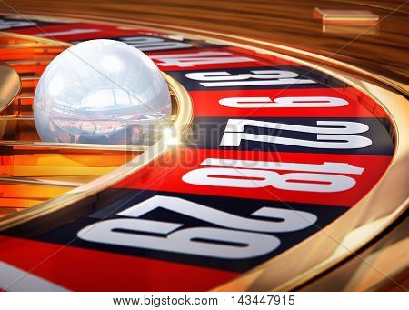 high resolution 3D rendering of a roulette