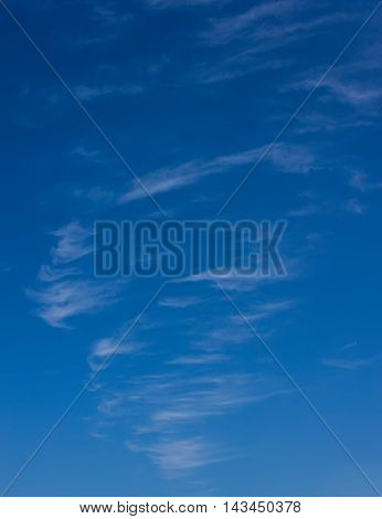 View of cirrus clouds against the blue sky