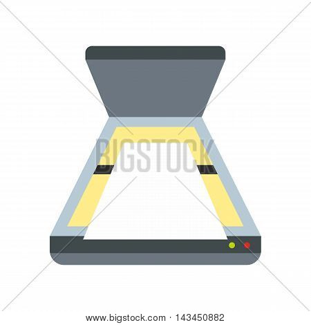 Scanner icon in flat style isolated on white background. Scan symbol