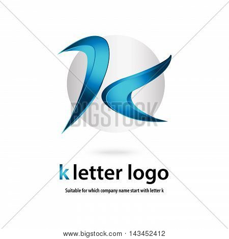 3d k letter logo 100% vector fully editable and resizable suitable for which letter is begining with letter k