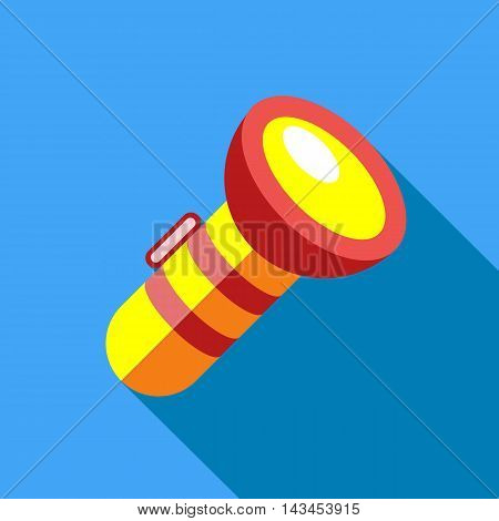 Lantern icon in flat style with long shadow. Light symbol