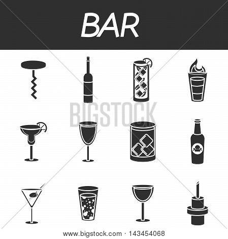 Bar icons set, excellent Vector illustration, EPS 10