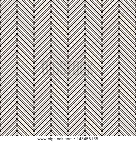 Linear seamless pattern. Modern stylish texture with thin lines. Regularly repeating geometrical pattern with zigzags rhombuses. Vector abstract background