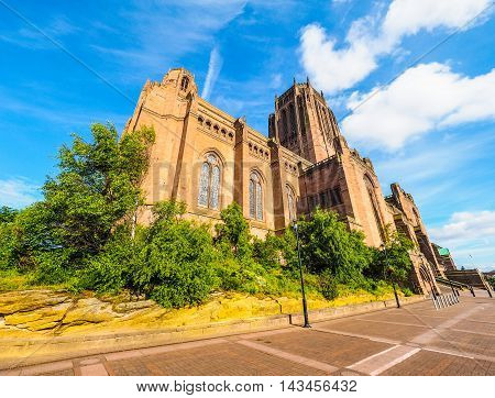Liverpool Cathedral In Liverpool Hdr