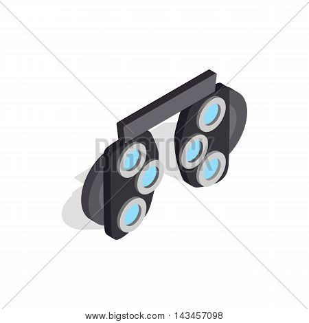 Glasses with different glass to test vision icon in isometric 3d style isolated on white background. Vision symbol
