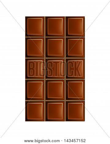 Dark Chocolate Bar Eps10 Vector Flat Illustration