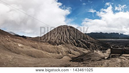 Panoramic, Mount Bromo volcano , Java, Indonesia