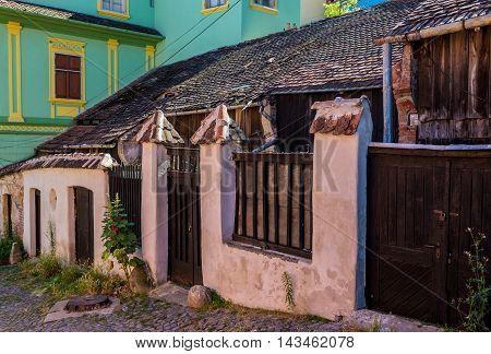 Old house in Sighisoara town in Romania